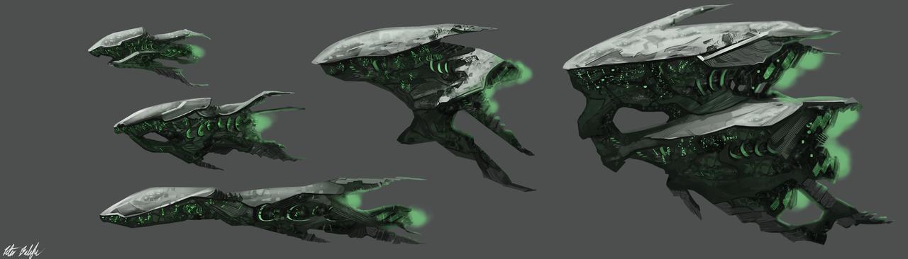 Alien Spaceships by PeterPrime.deviantart.com on ...