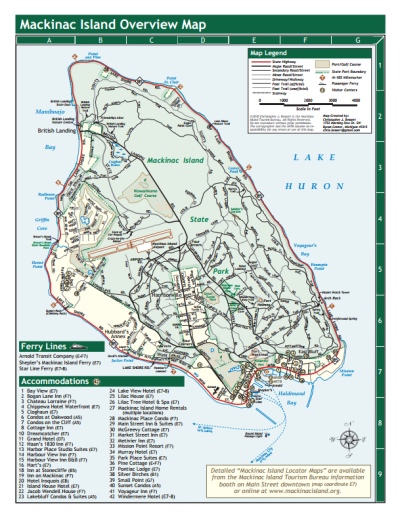 Printable General Map of Mackinac Island | ELI in 2019 ... on lake huron map, grand rapids map, michigan map, ottawa island map, crespo island map, somerset island map, isle royale map, saint joseph island map, ionia island map, lawrence island map, douglas island map, great lakes map, bois blanc island map, traverse city map, mackinaw city map, tahquamenon falls map, lake island map, drummond island map, raspberry island map, st. louis island map,