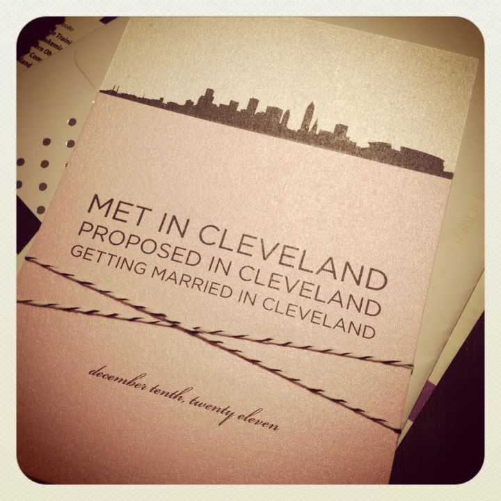 Cleveland Themed Wedding Invitation