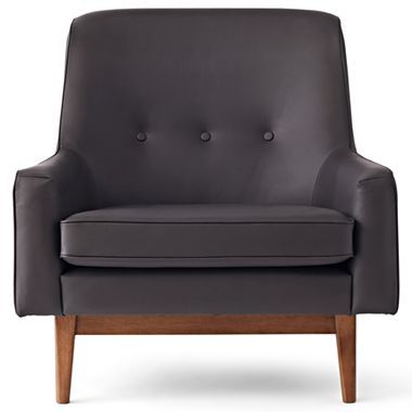Happy Chic By Jonathan Adler Bleecker Leather Accent Chair