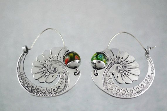 Ethnic jewelry earrings por ArgollasTravieso en Etsy, €30.00
