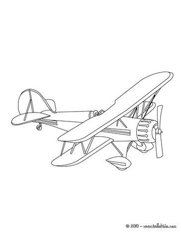Vintage Airplane Coloring Pg