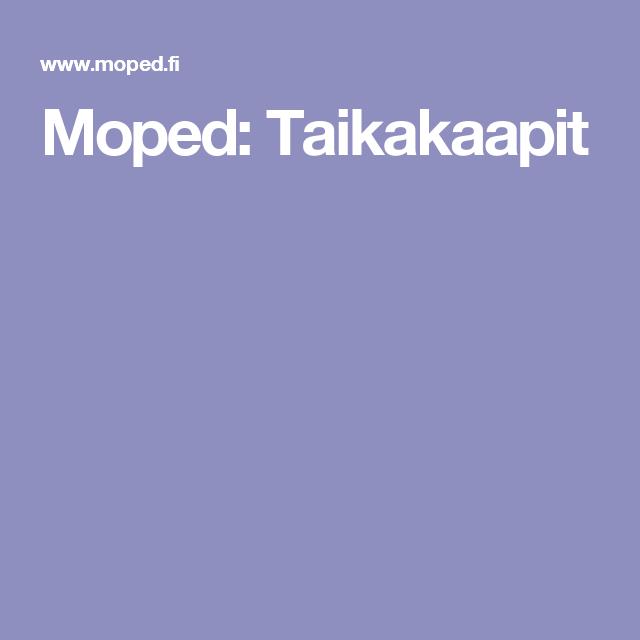 Moped: Taikakaapit