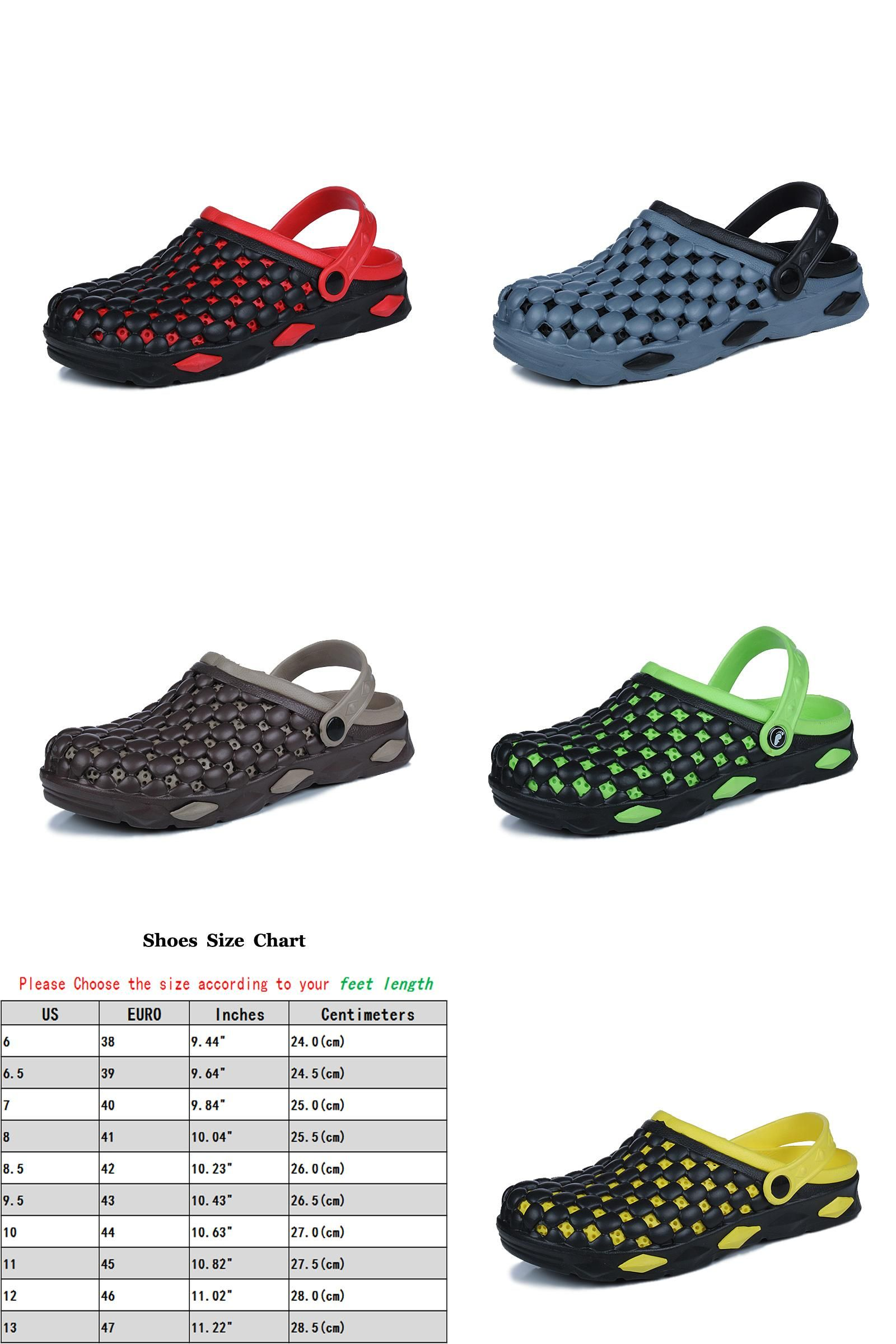 d6dc85f1a413  Visit to Buy  Summer Sandals Men Casual Shoes Mens Mules Clogs Croc  Breathable Beach