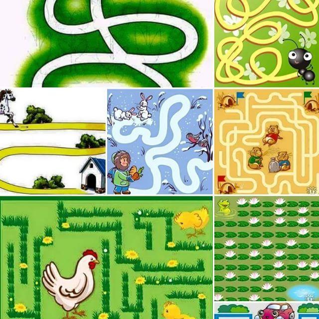 وسائل تعليمية مبتكرة On Instagram متاهات جميلة لرياض الاطفال تساعدهم على التركيز Education Activities Mario Characters