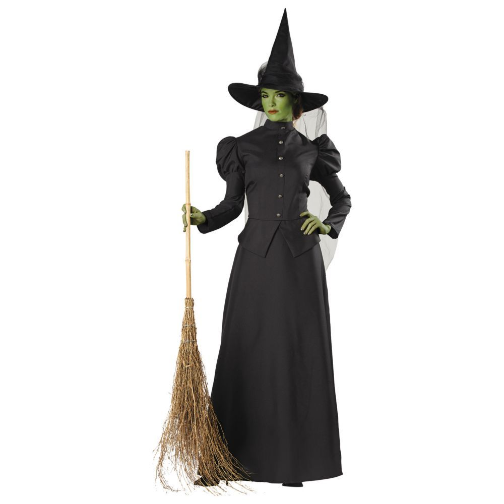 Deluxe classic witch halloween costume for women small