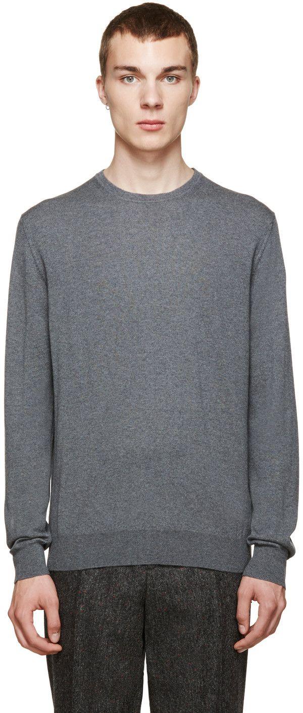 moncler grey crew neck