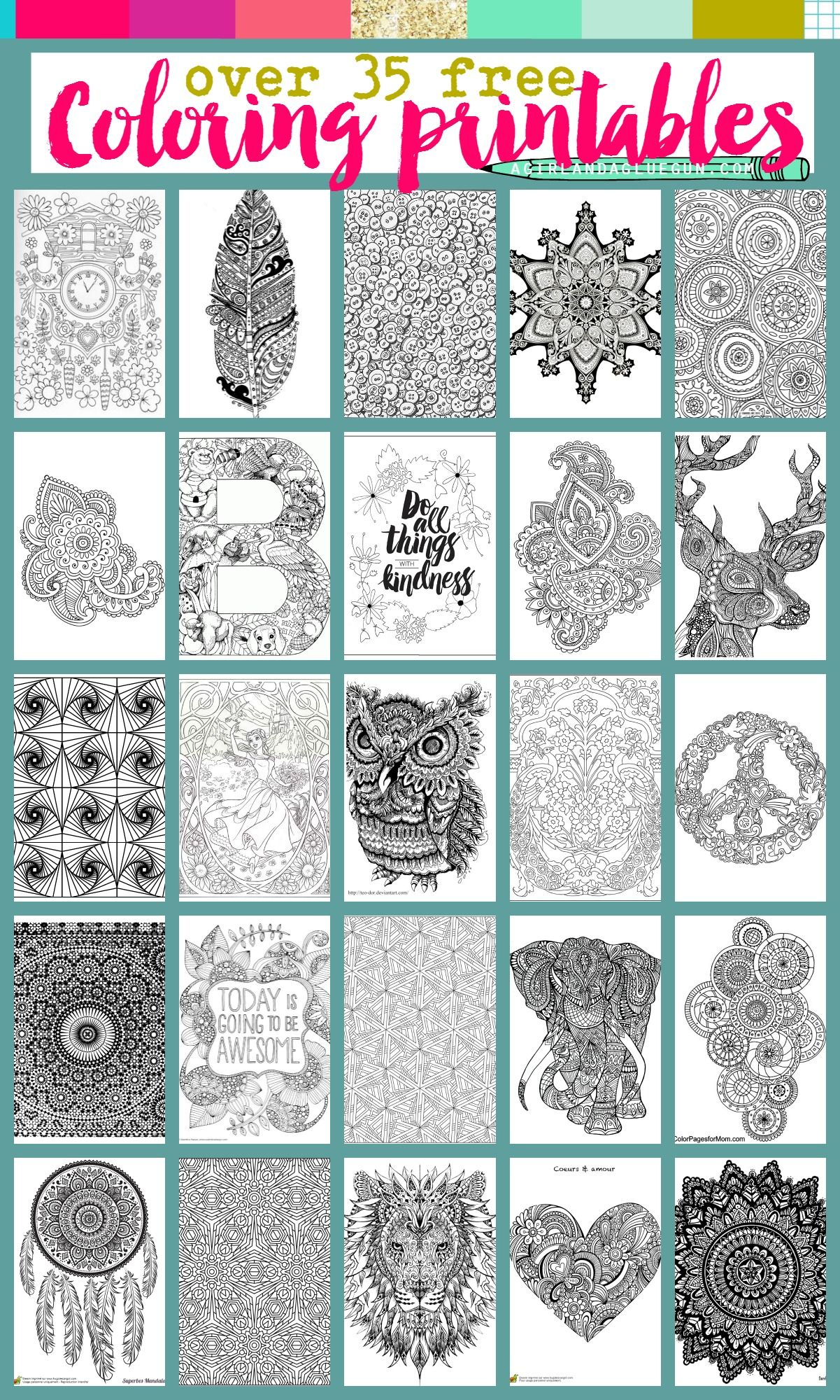 Free Coloring pages printables | Free Printables | Pinterest | Adult ...