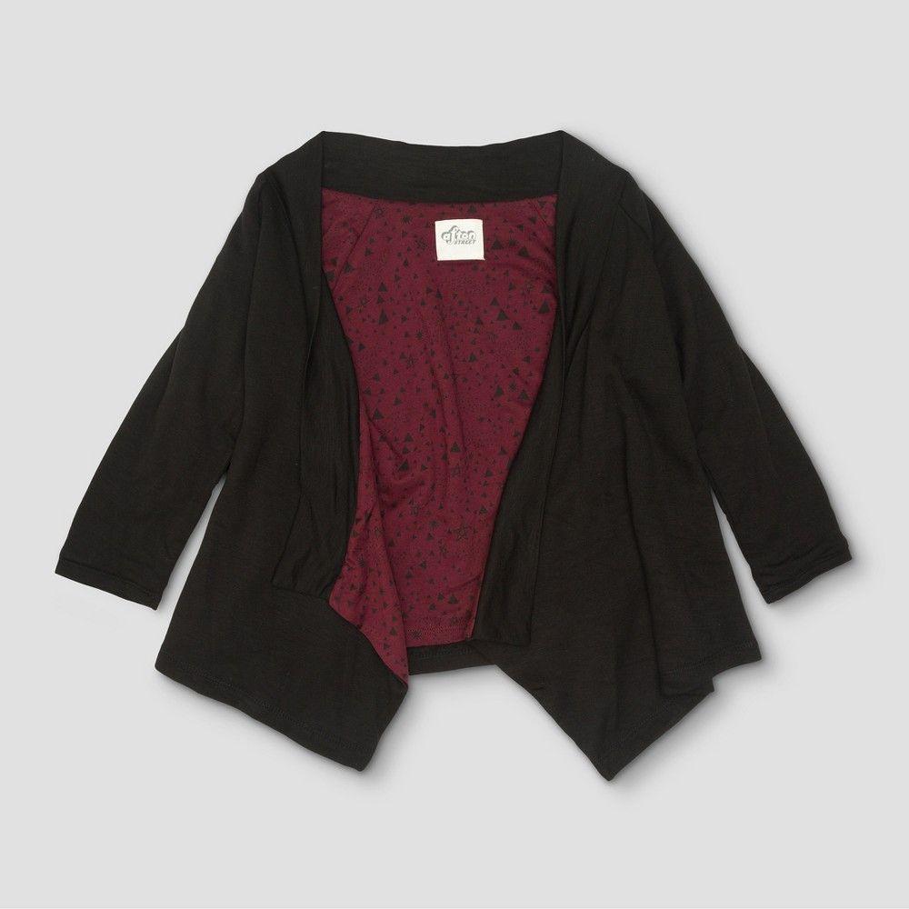 Toddler Girls' Afton Street Fleece Cardigan Sweatshirt - Black ...