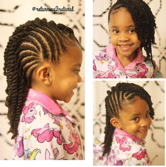 9 Cute Protective Styles From Returning2natural Perfect For Your Little Girl Girls Natural Hairstyles Natural Hair Styles Kids Hairstyles