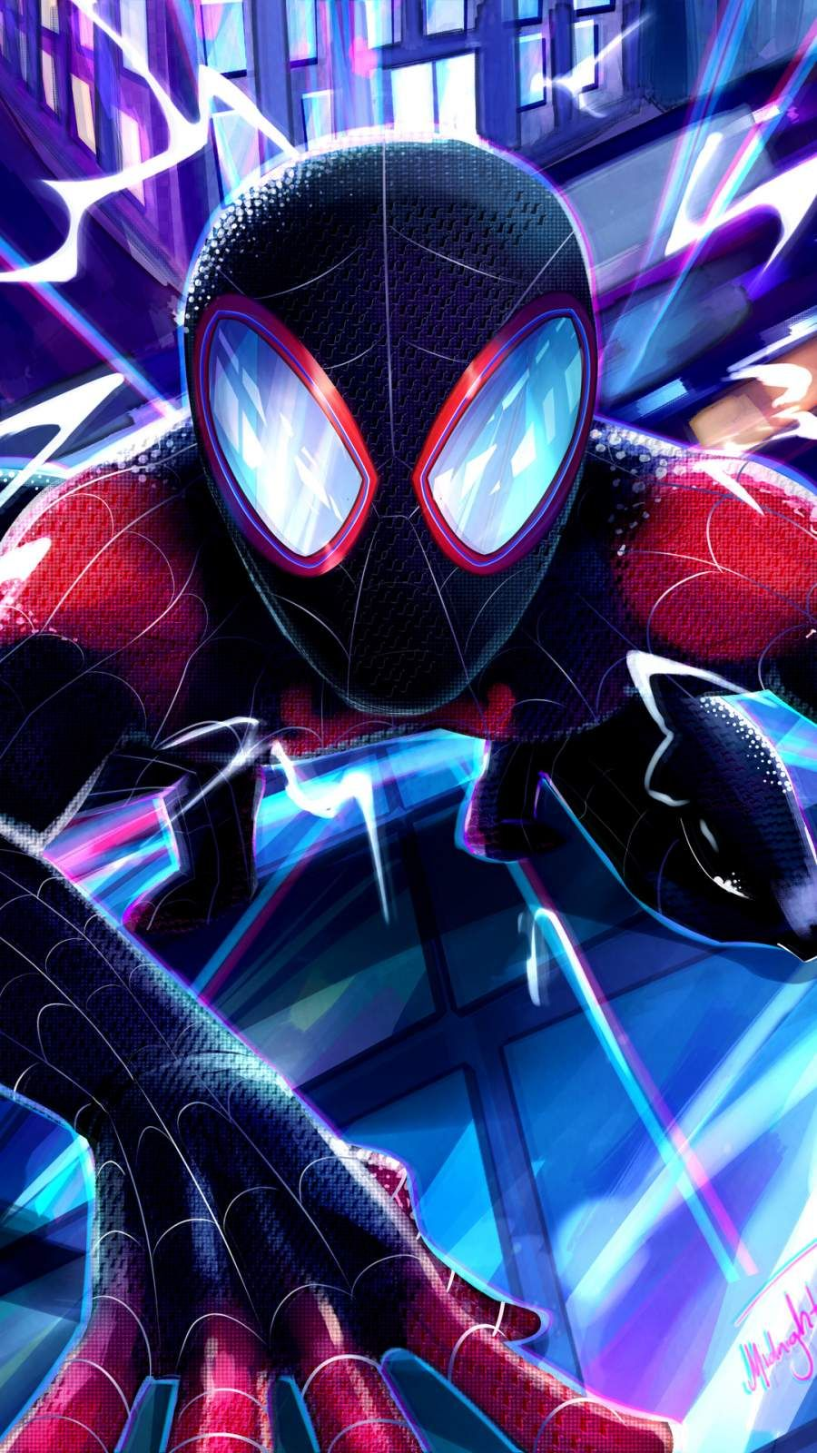 Miles Morales Spiderman iPhone Wallpaper Miles morales