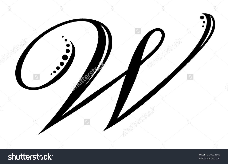 Worksheet Cursive Letter V letter w stock photos images pictures shutterstock script royalty free vectors