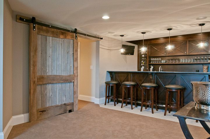 Basement Door Ideas Pleasing With Bar Barn Barn Door Basement Door Reclaimed Wood Sliding Door Decorating Design