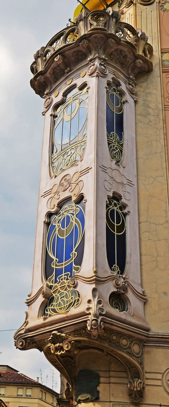 "onarangel:  ""Torino Liberty - Casa Fenoglio Lafleur | Art Nouveau Style and Stained Glass Windows  "" #spinatlasagne"