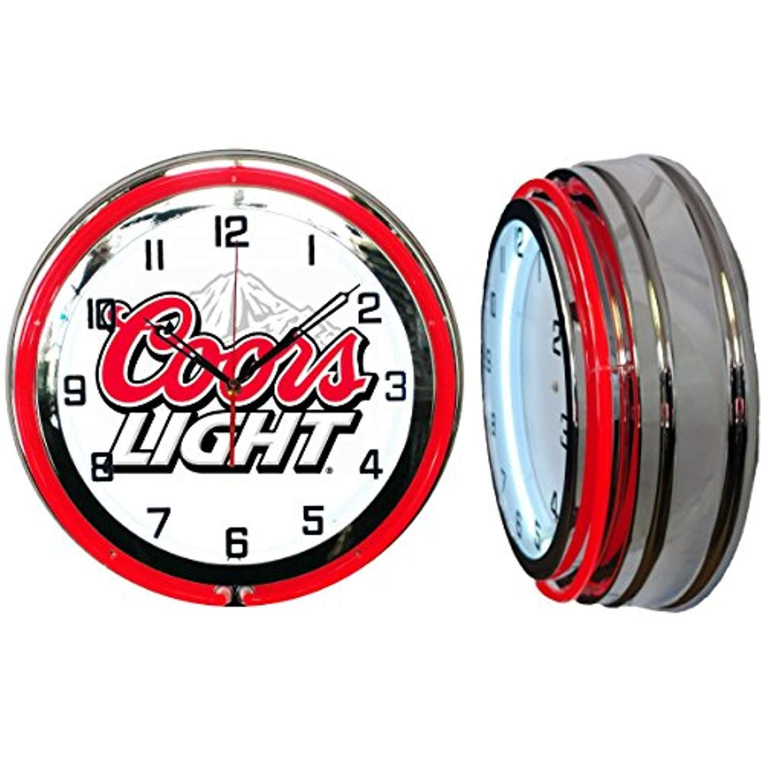 Checkingtime 19 Coors Light Neon Clock Two Neon Tubes Red Outside Tube Check This Awesome Product By Going To The Link At The Neon Clock Coors Light Clock