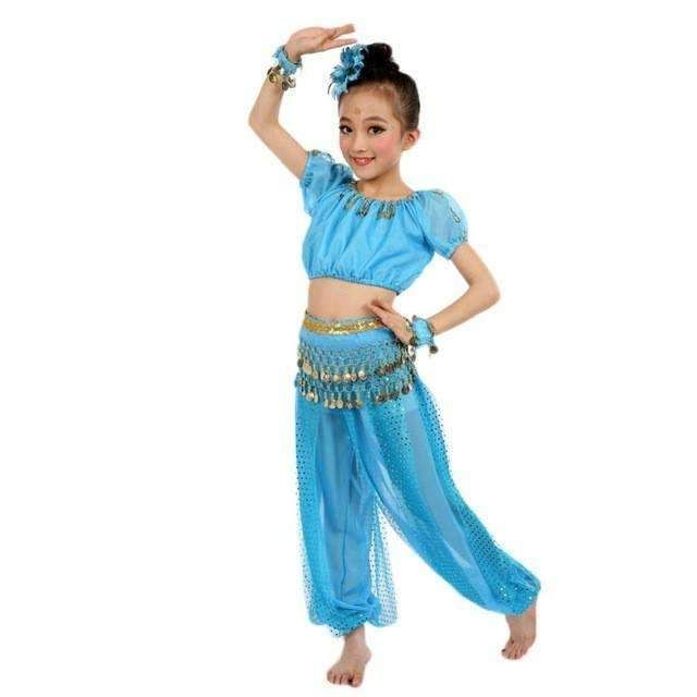 2a1804d8050 Chiffon Belly Dance Clothes Hot Sale Handmade Girl Costumes Kids Belly  Dancing Beading Egypt