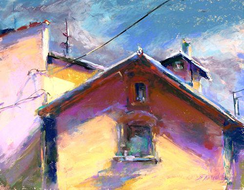 Bonnie Paruch - Algoma Shadows, 2014     Paintings: Pastels