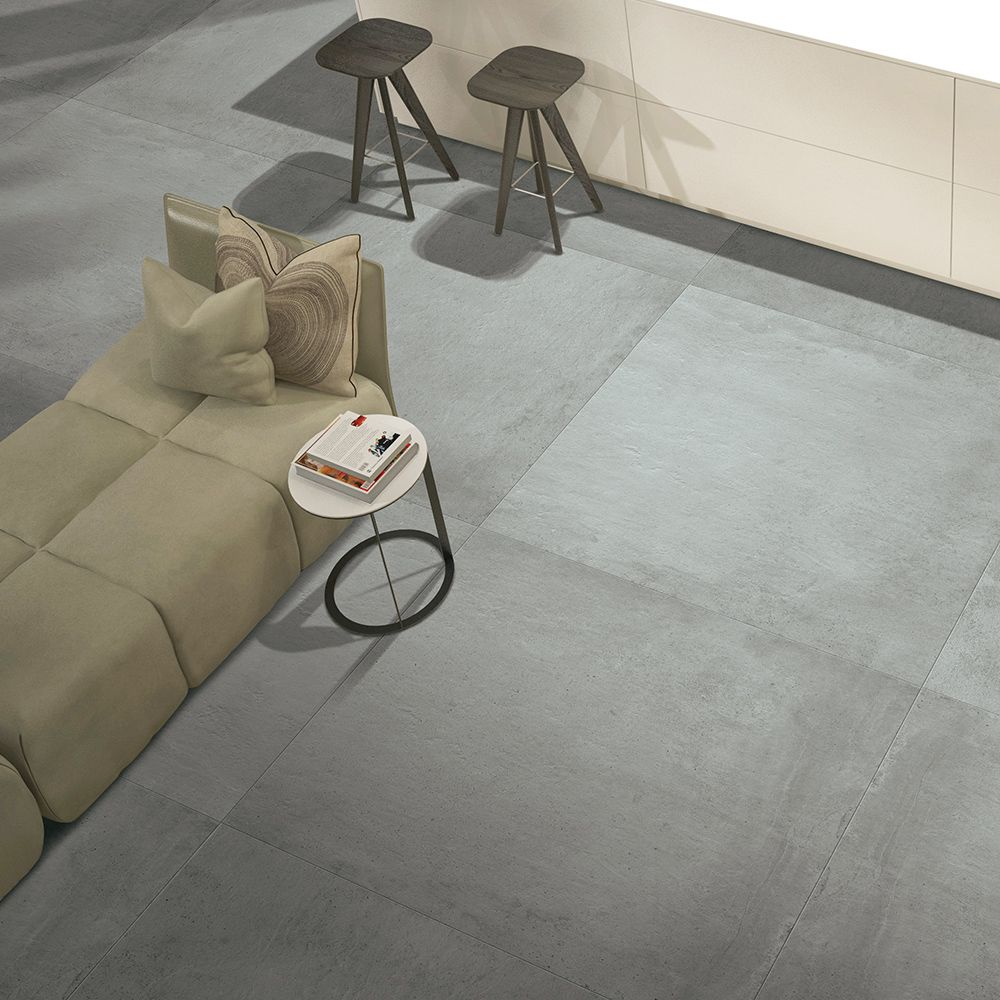 Carrelage Sol Effet Beton 30x60 Dark Naturel Rectifie Collection