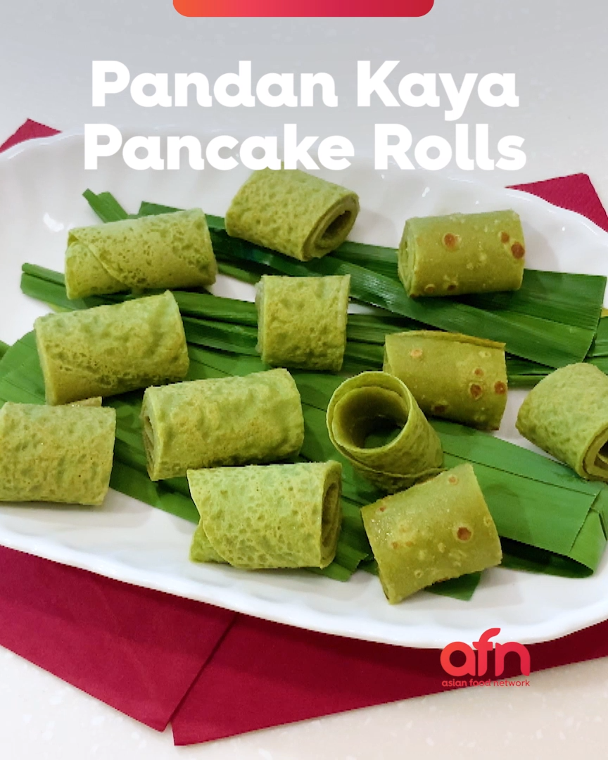 What's soft and crisp on the outside and a little gooey and creamy in the center? Pandan Kaya Pancake Rolls! I first made these for my son's International Day booth at school to introduce the kids to Malaysian flavors. We didn't have time to make 100s of kuih but I wanted something a little more special than the classic kaya toast, can definitely be paired with an aromatic cup of Kopi or Teh Tarik.