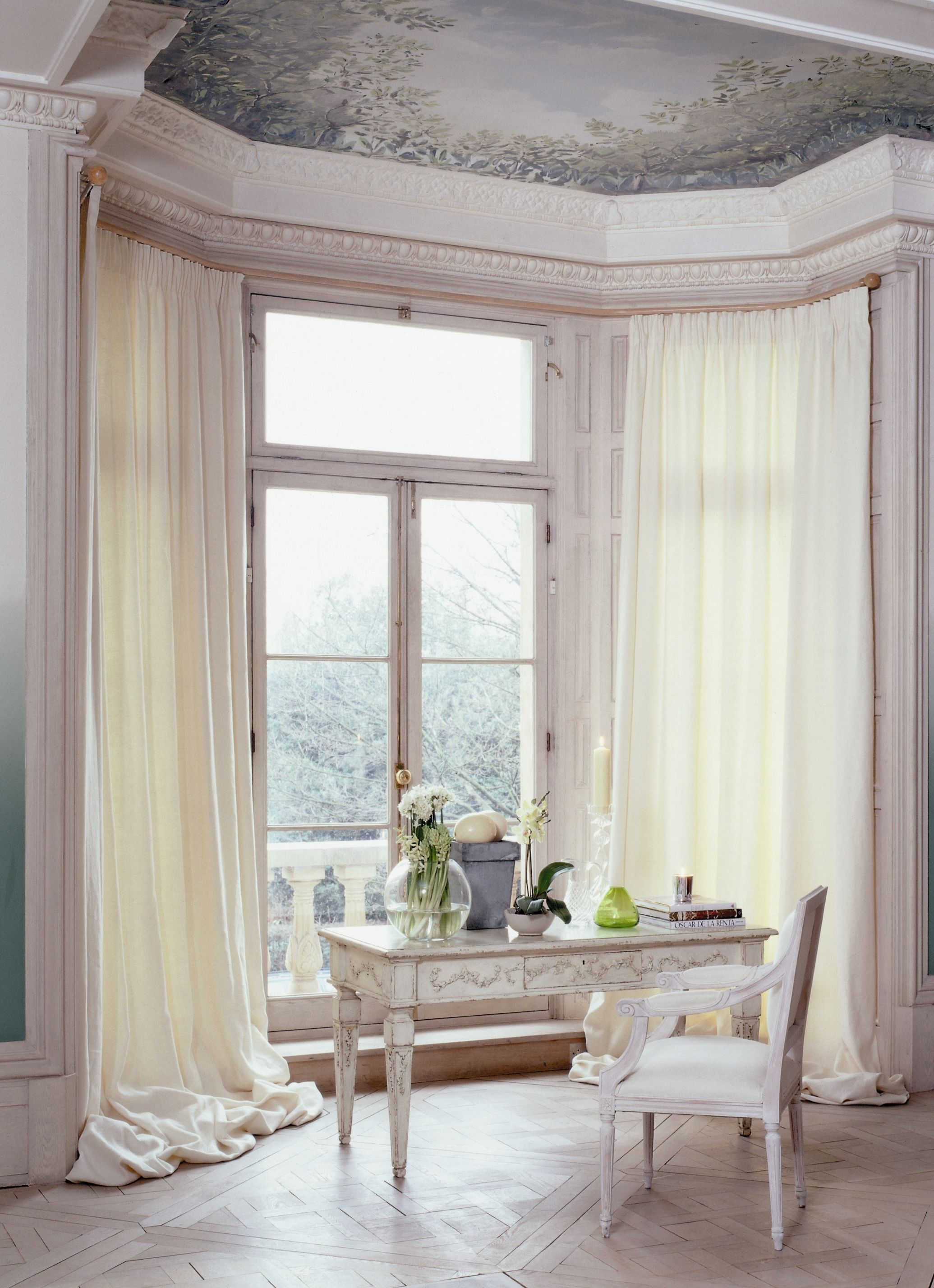 Pin On Curtain Poles For Bay Windows