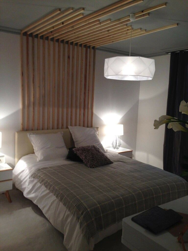 Tête de lit en bois D&co Sophie Ferjani   Chambre   Home Decor, Bed ...