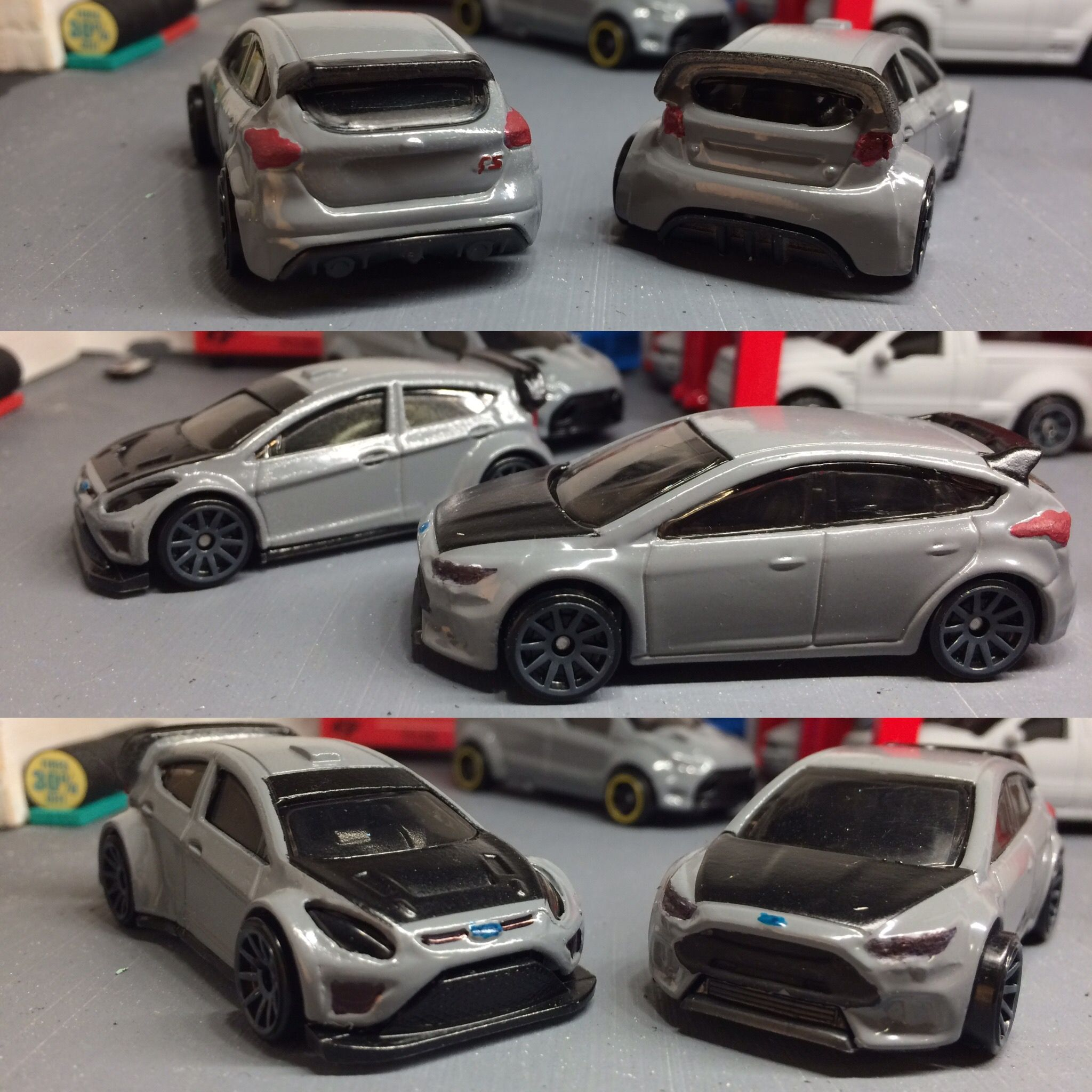 Custom Focus And Fiesta Twins Hot Wheels Toy Car Car Collection