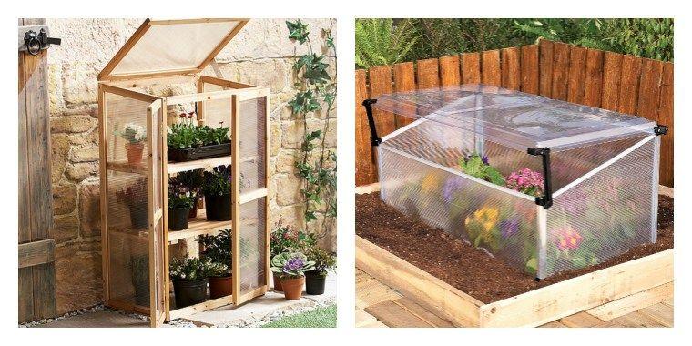 petites serres de jardin en bois et plastique de type ...