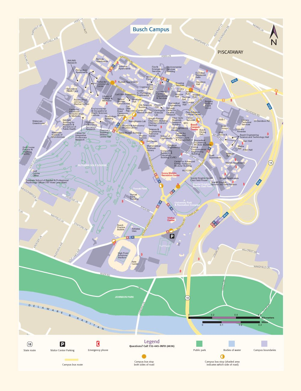 Rutgers University Busch Campus Map New York Metropolitan Area