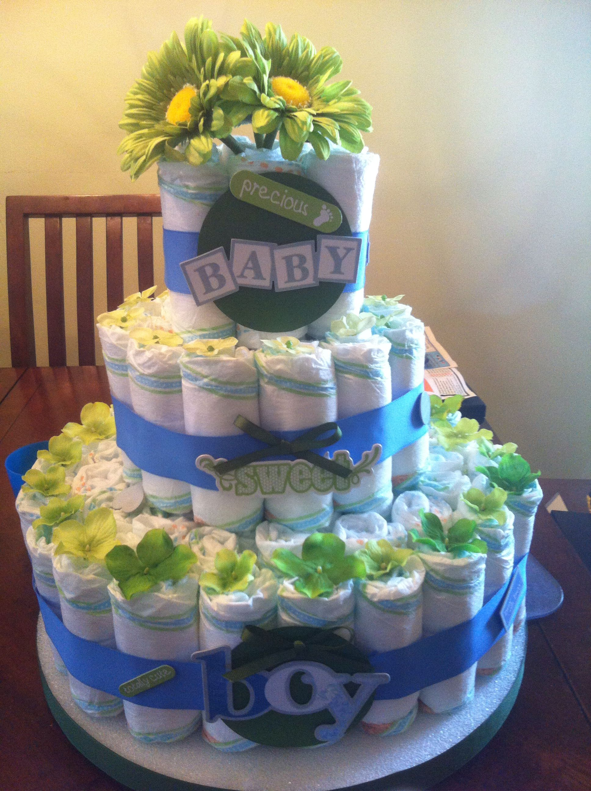 Boy diaper cake diaper cake boy cake
