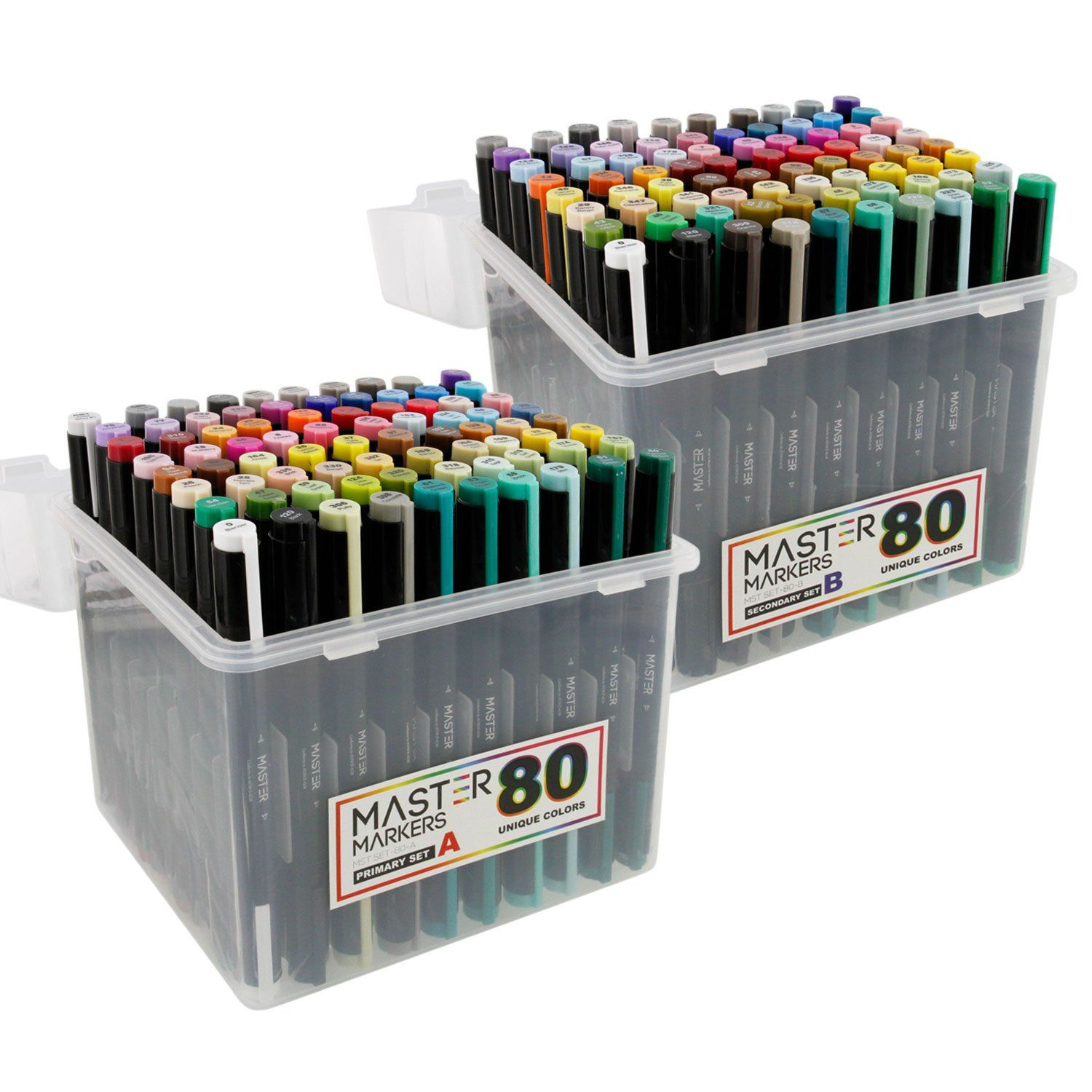 Master Markers 160 Color Premier Marker Set With Plastic Carry
