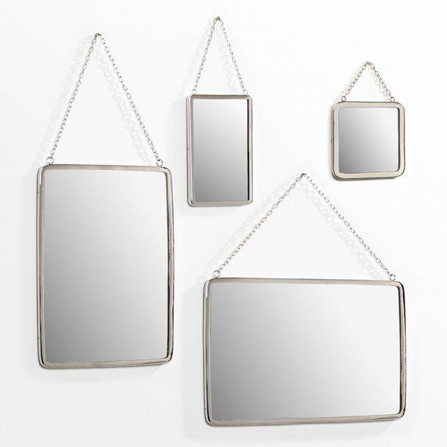 Miroir rect grande taille L37 x H52 cm Barbier