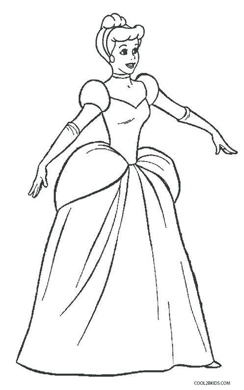 Cinderella Coloring Pages Printable Princess Cinderella ...
