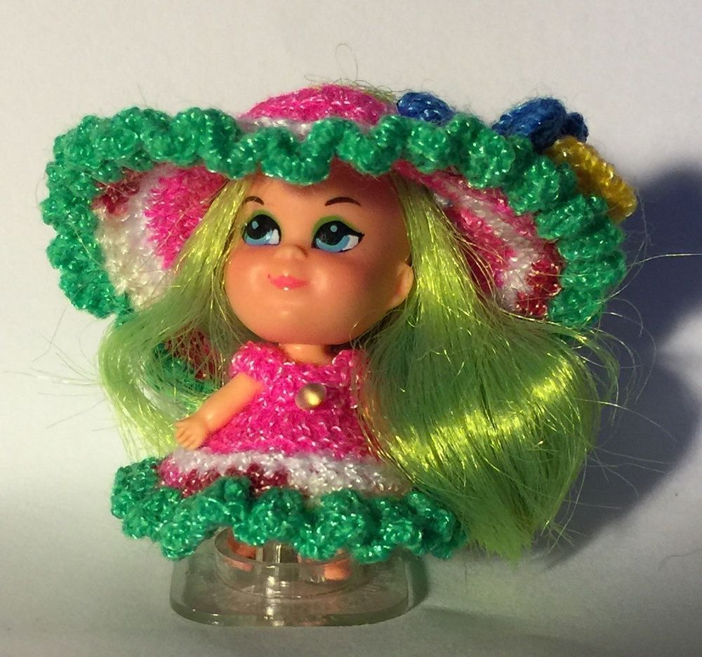 "Handmade Crochet clothes fits vintage Mattel 2/"" LIDDLE KIDDLE DOLL"