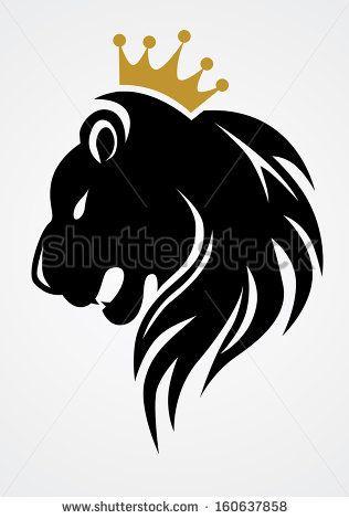 Black Lion Head With Crown Lion Tattoo Design Tribal Lion Black Lion
