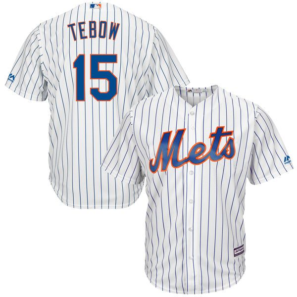 acfe6c21daf Tim Tebow New York Mets Majestic Home Cool Base Player Replica Jersey -  White