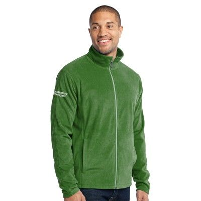"""The perfect blend of sporty and functional, this Port Authority® Men's """"Respiratory Therapist"""" Micro-Fleece Jacket is ideal for cold days and nights."""