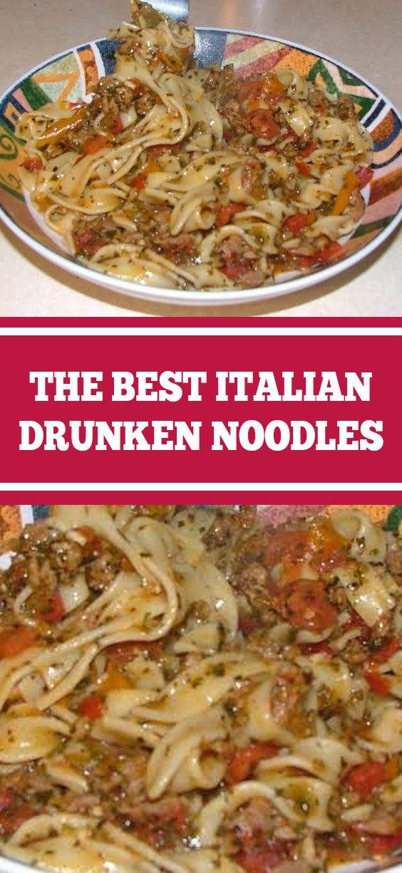 ktchn.damnlicious: The Best Italian Drunken Noodles #italiannoodles #noodlesrecipes