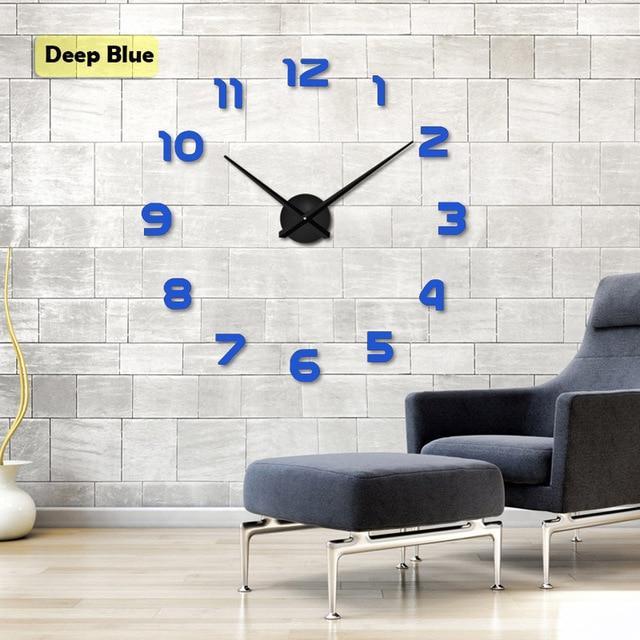 mirror stickers quartz wall clock | wall clock | mirror wall clock