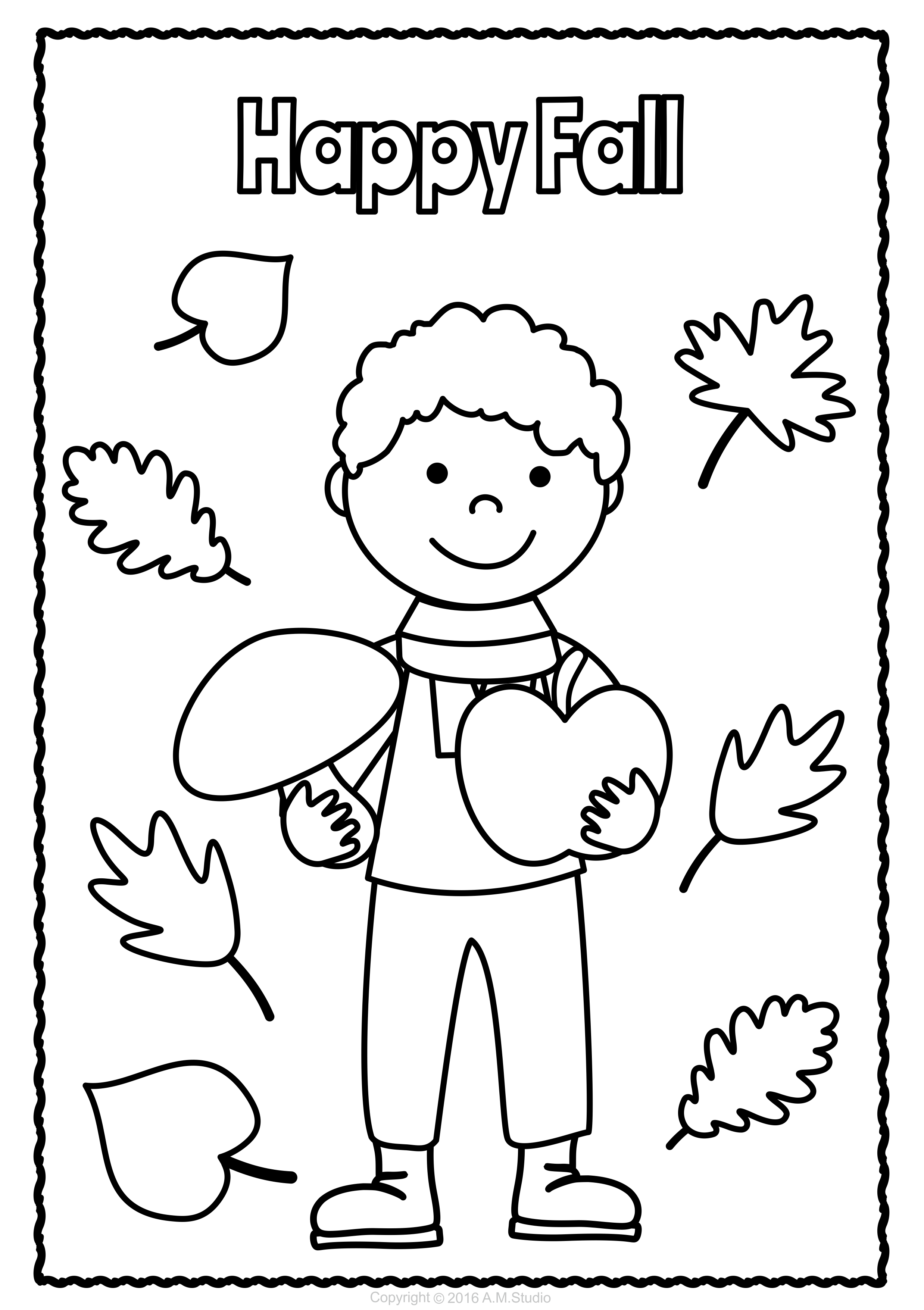 Fall Coloring Pages | Coloring Pages | Pinterest | Coloring ...