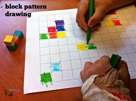 Spatial Awareness and Simple Blocks! Block Pattern Drawing. Your Kids OT