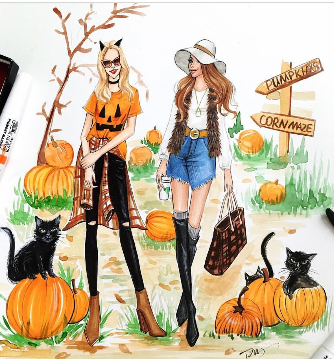 Cute hello October image, sayings, cards photos