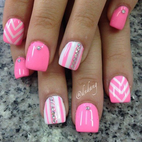 50 Pink Nail Art Designs - 50 Pink Nail Art Designs Pink Nails And Spring Nails