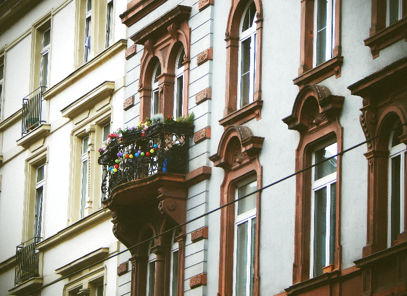 While walking, I saw this amazing balcony!