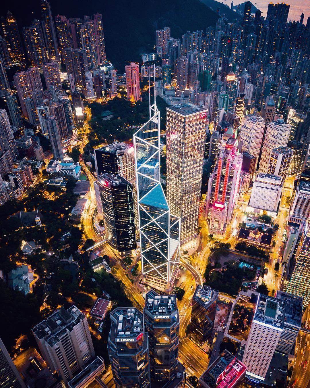 Night Lights From Above In Hong Kong Hong Kong Photography Hong Kong Night Hong Kong