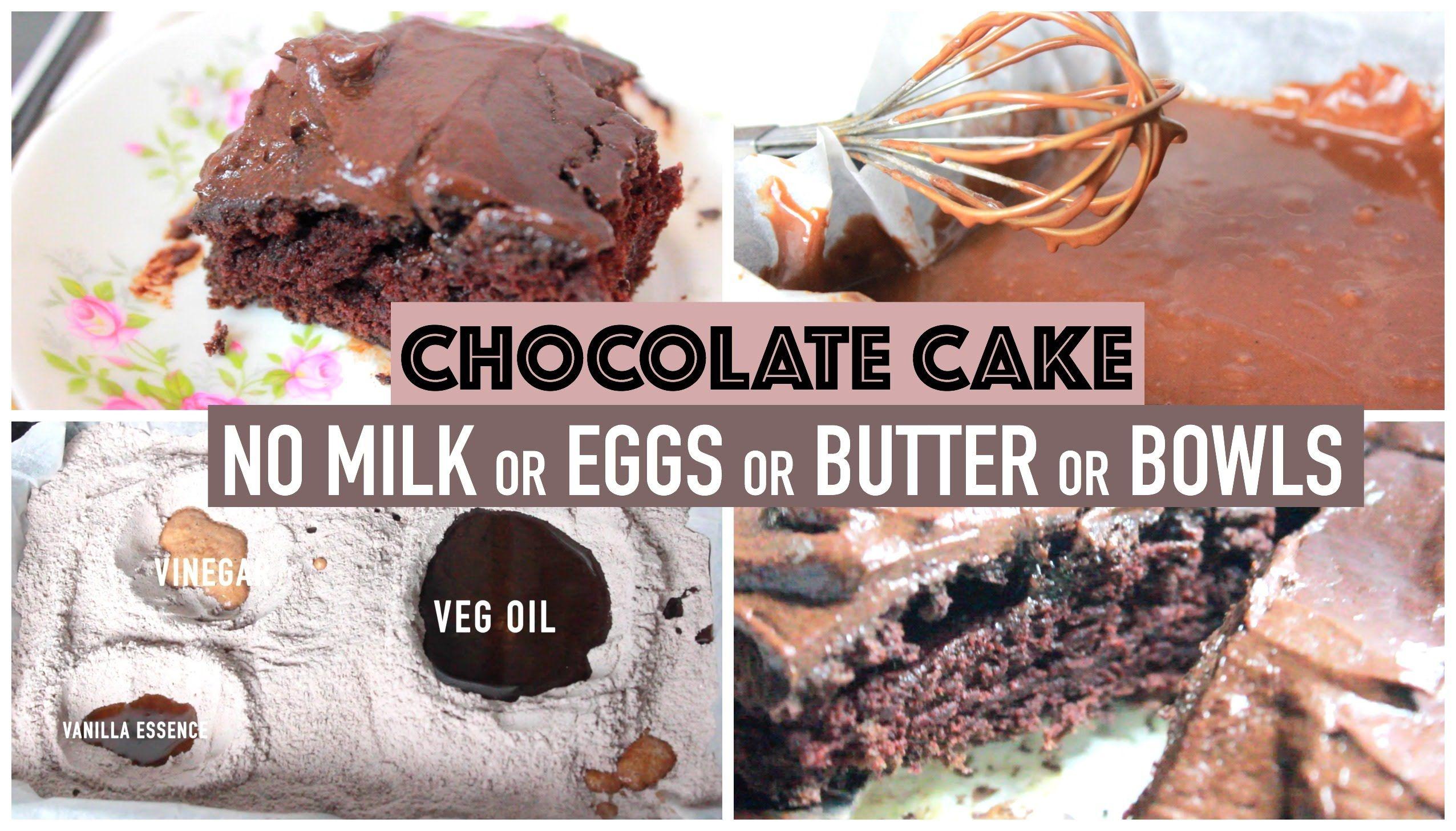The Super Delicious Crazy Chocolate Cake Recipe No Eggs Milk
