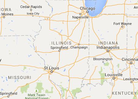 Map Of Decatur Illinois Longitude Altitude Sunset Canning - Altitude longitude