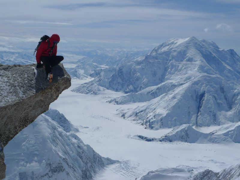 Mount Foraker from about 17,000 feet on Denali. Photo by Colin Haley.