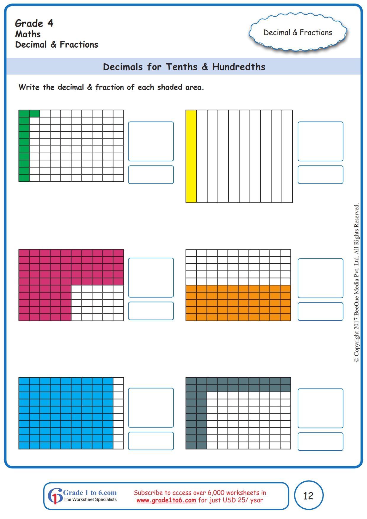 Fresh Ideas - FREE Math worksheets for Grade 1 through Grade 6