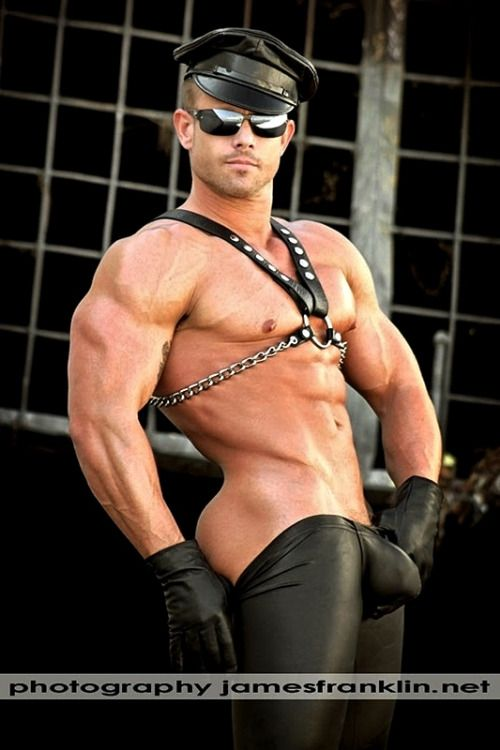 leather in gay Hot men