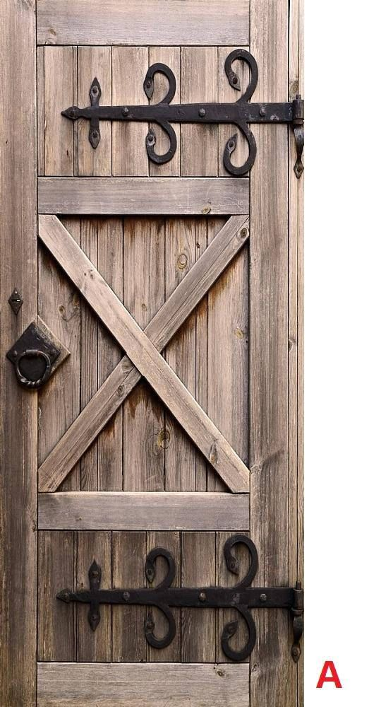 Door Wall Sticker Barn Door Self Adhesive Vinyl Decal Poster Etsy Wooden Doors Old Wooden Doors Garage Door Design